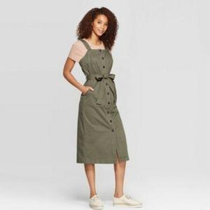 Universal Thread Green Button Up Dress